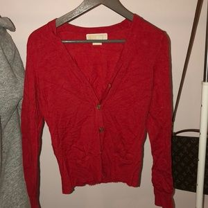 Michael kors red sweater